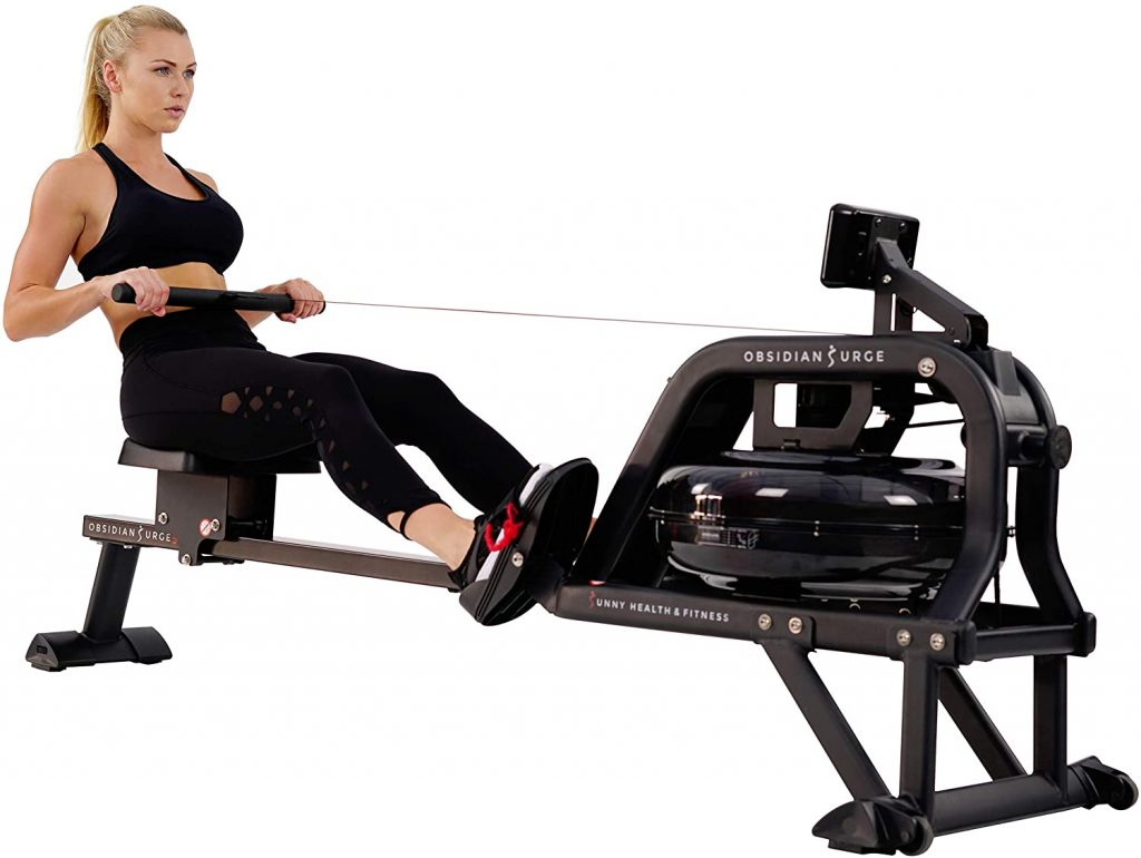 Best Water Rowing Machine Sunny Health & Fitness Obsidian SF-RW5713